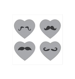 Heart moustache Stickers