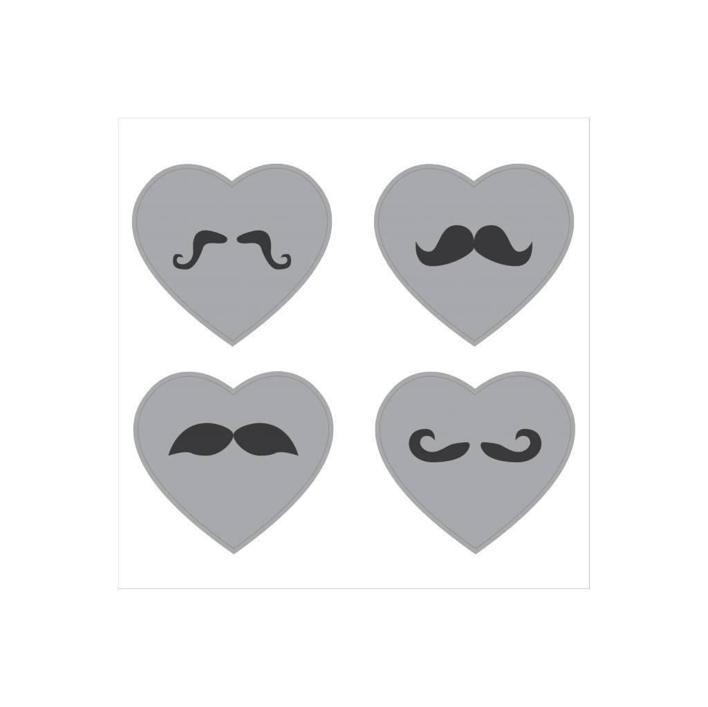 Hartje snor Stickers