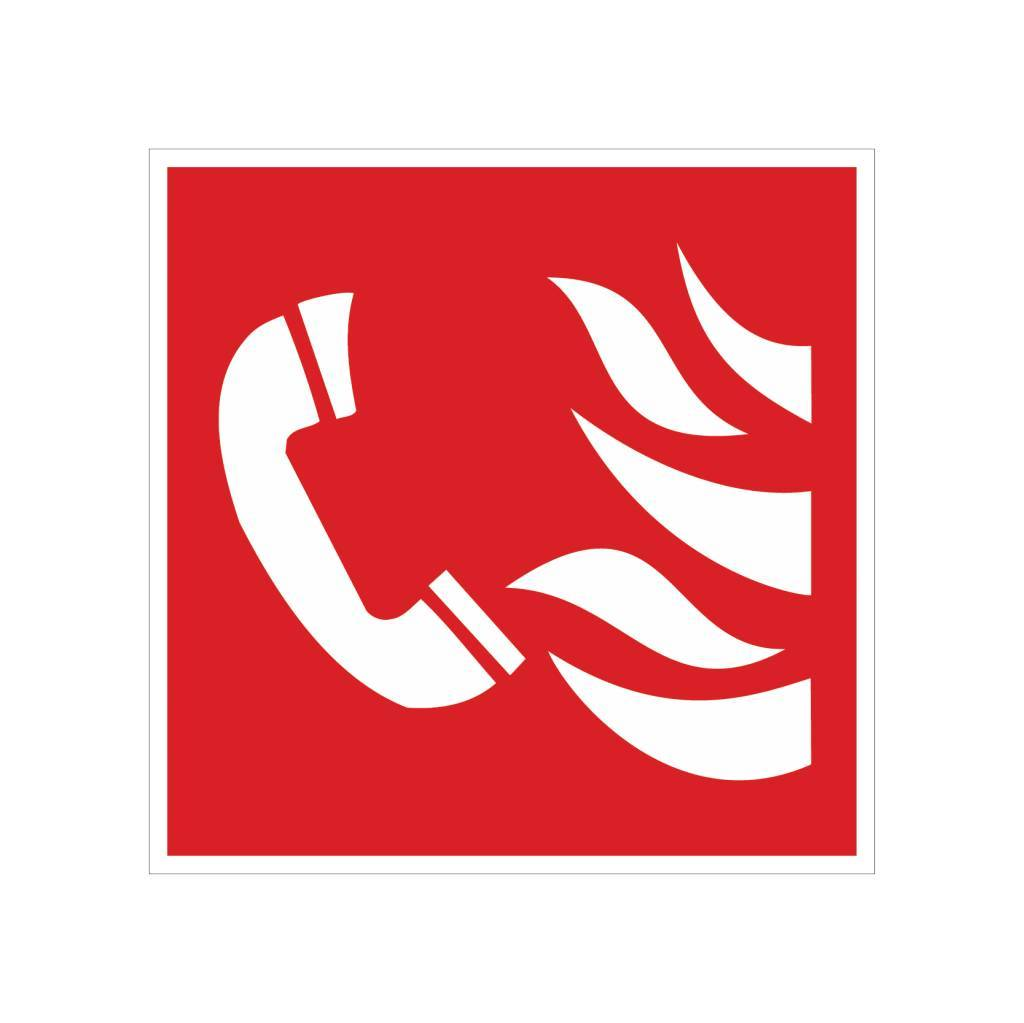 Telefoon voor brandalarm sticker