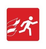 Feuerfluchtweg Sticker