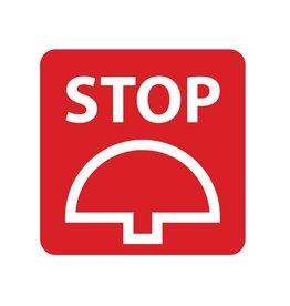 Stop button Sticker