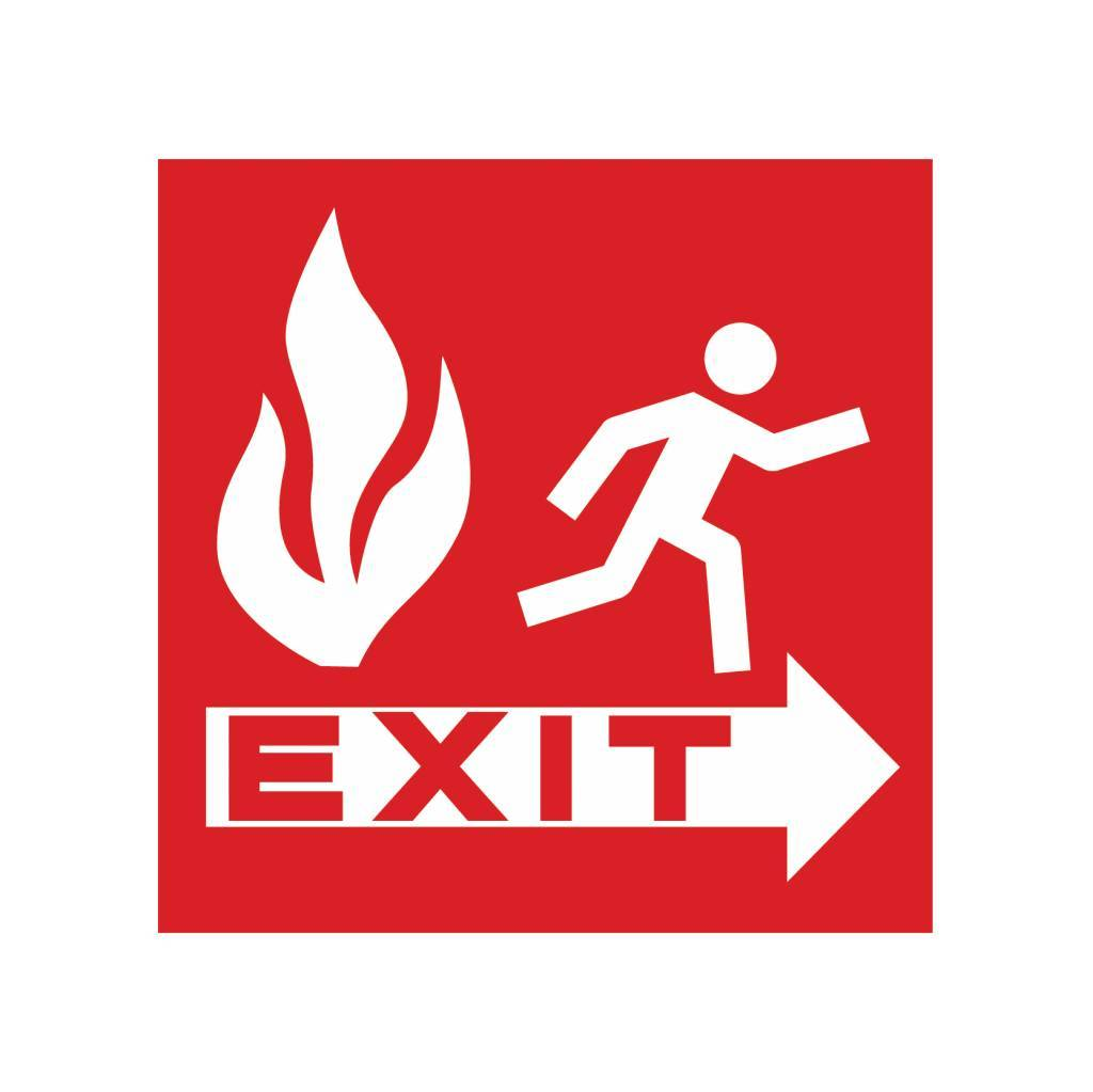 Fire exit Sticker