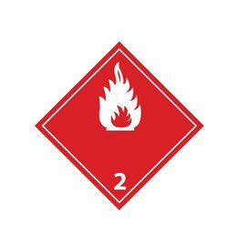 Flammable gases 2 white Sticker