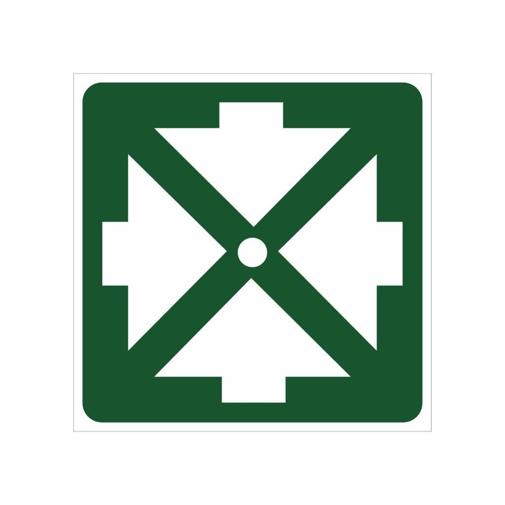 Verzamelplaats sticker