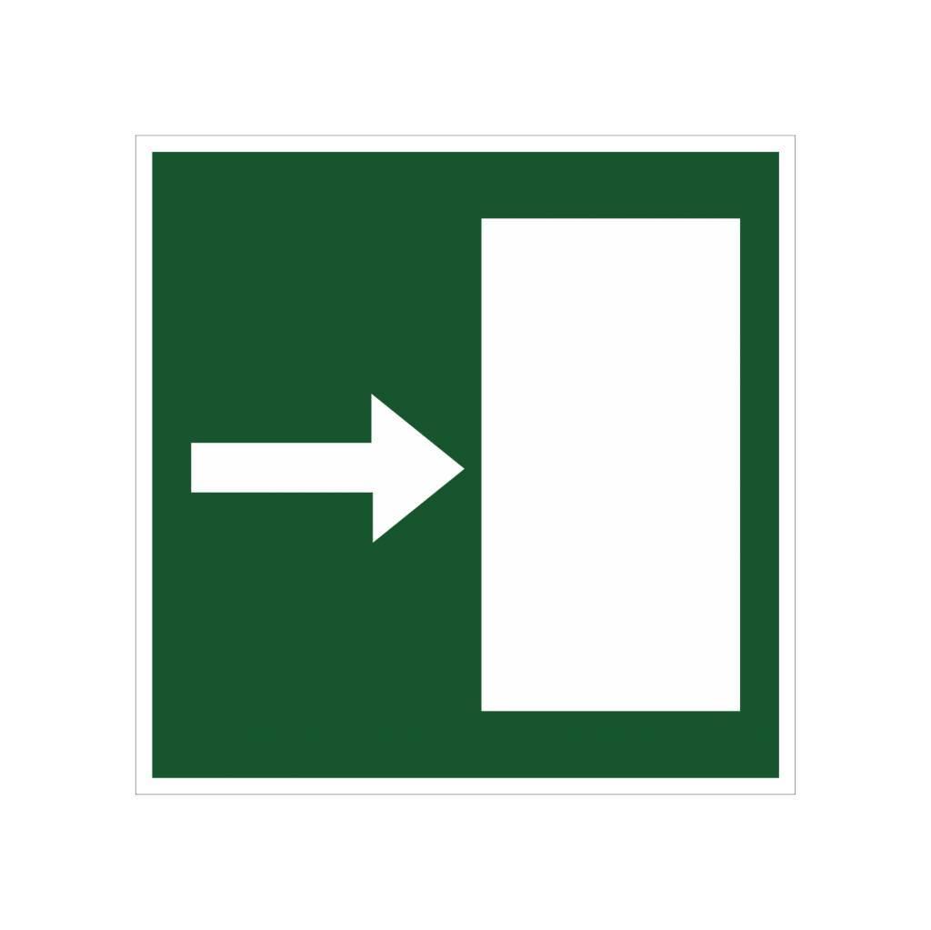 vluchtweg rechts2 sticker