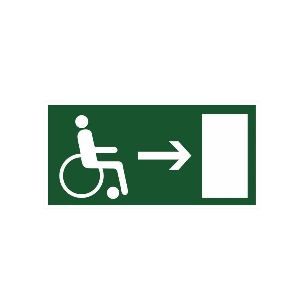 Fluchtweg Behinderte Rechts Aufkleber