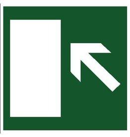 Escape route left sticker