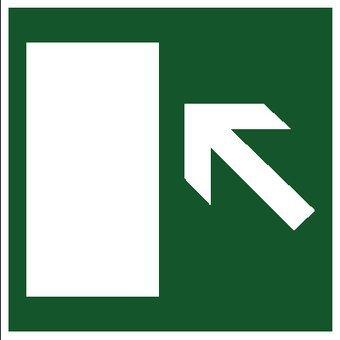 Vluchtweg links sticker