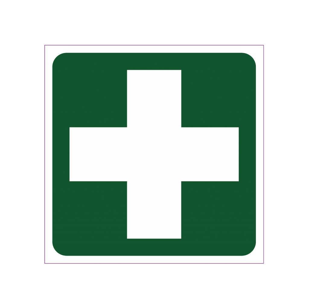 Erste Hilfe Kreuz Aufkleber