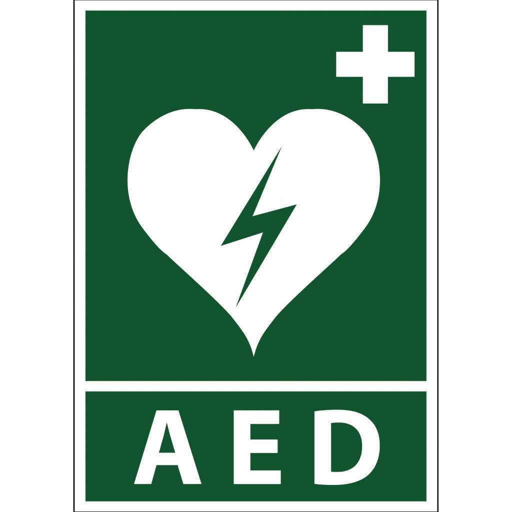 AED Aufkleber