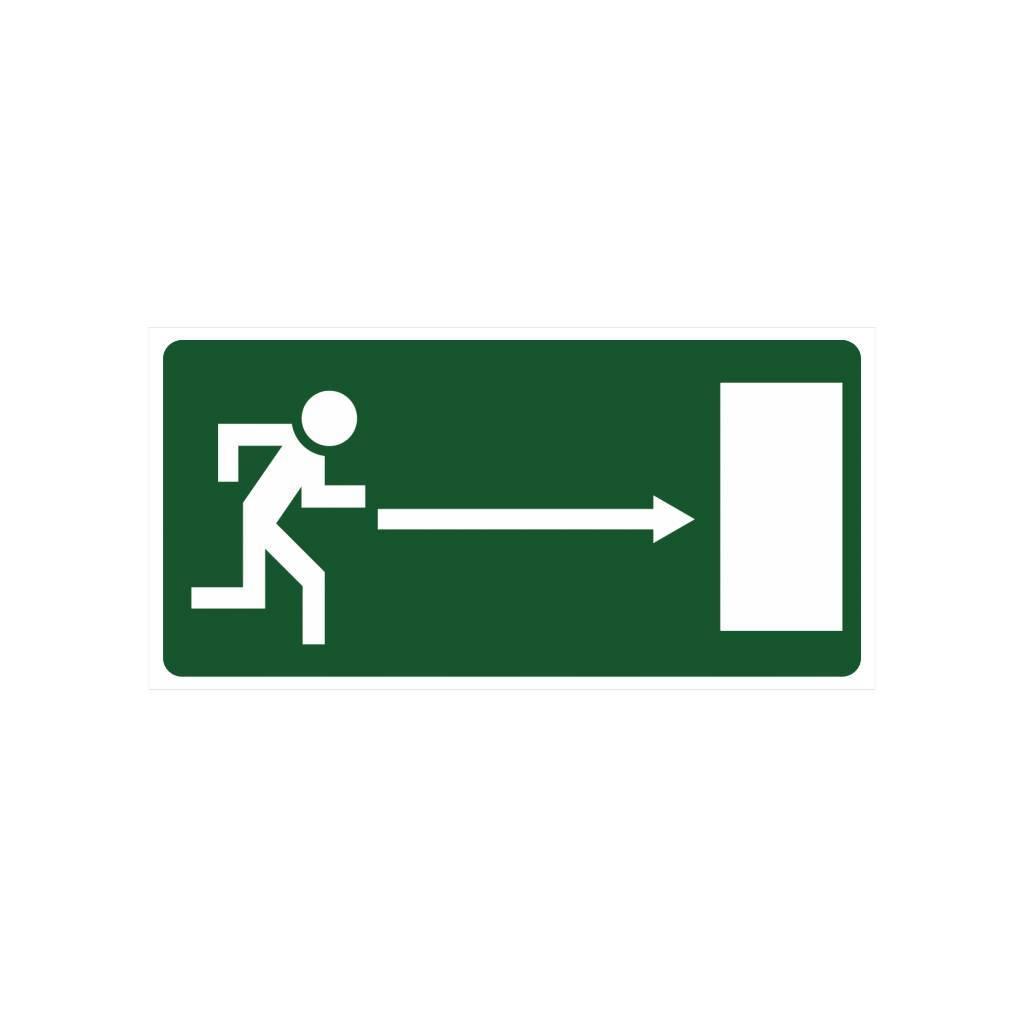 Vluchtweg rechts sticker