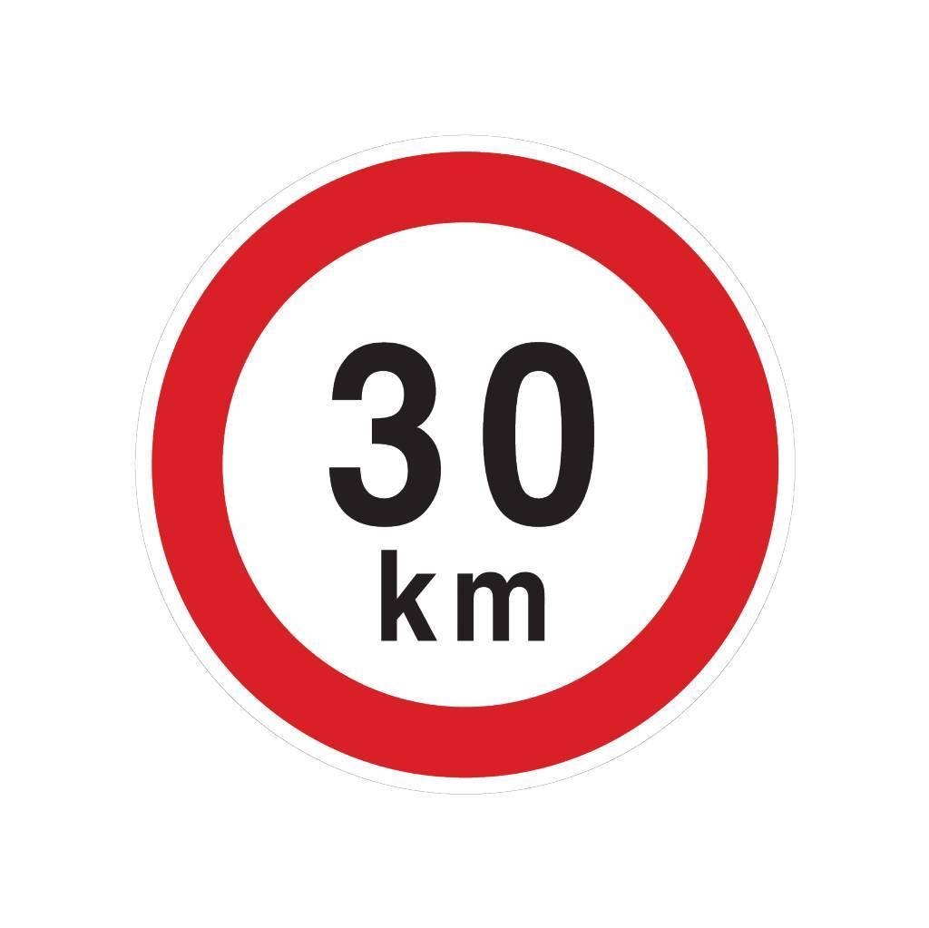 Max. 30 km sticker