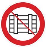 Niet neerzetten of opslaan sticker