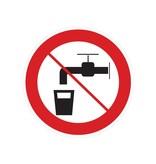 Geen drinkwater sticker