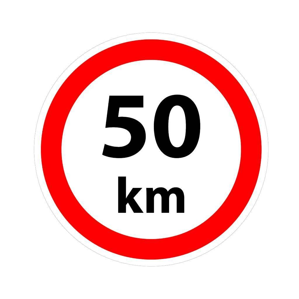 Max. 50 km sticker