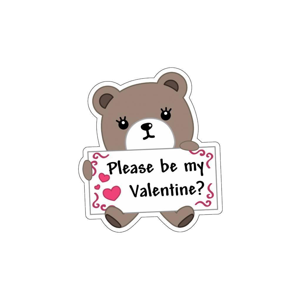 Valentijnsdag Love Beertje 2 Stickers