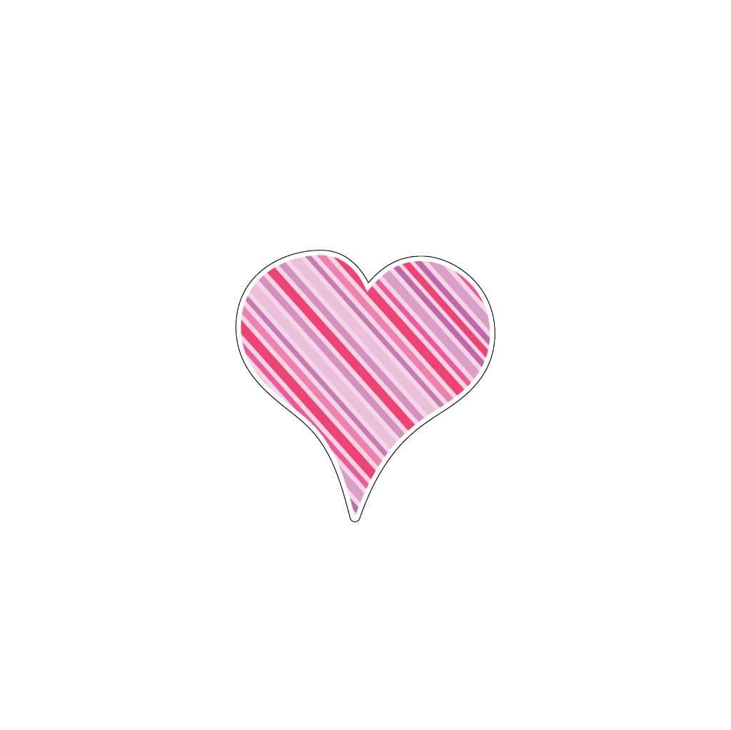 Valentijnsdag Hart Roze 4 Stickers