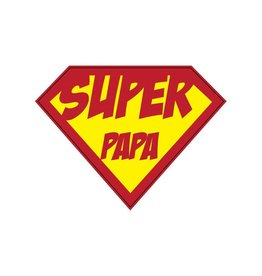 Super hero Papa Sticker
