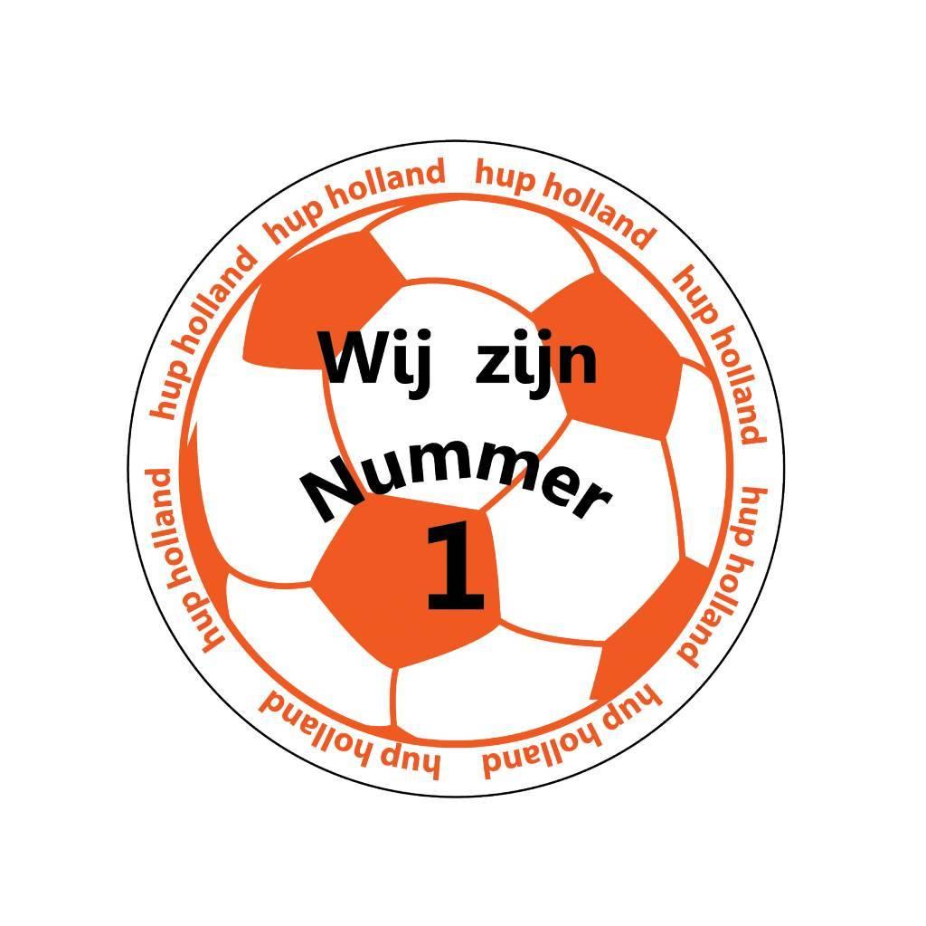 Oranje sticker 10