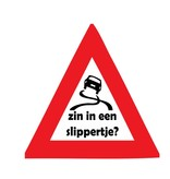 Auto sticker slippertje?