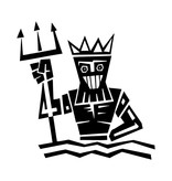 Waterman sterrenbeeld sticker