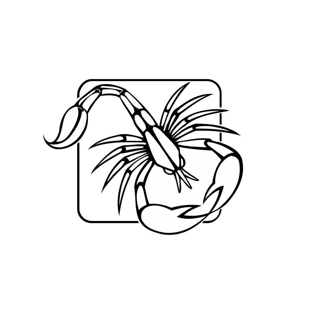 Schorpioen sterrenbeeld sticker 1