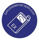 Explosie meter verplicht Sticker