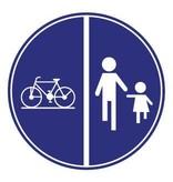 Fiets en voetganger Sticker