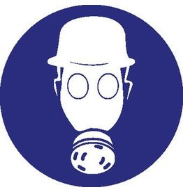 Safety helmet and breathing protection sticker