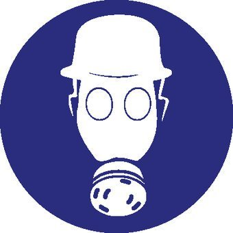 Veiligheidshelm en ademhalingsbescherming Sticker