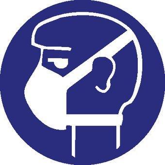 Lichte ademhalingsbescherming verplicht Sticker