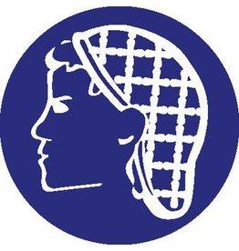 wearing a hairnet mandatory sticker