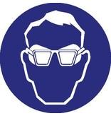 Dragen van bril met zijschilden verplicht Sticker