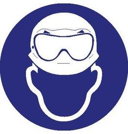 Dragen van helm en zuurbril verplicht Sticker