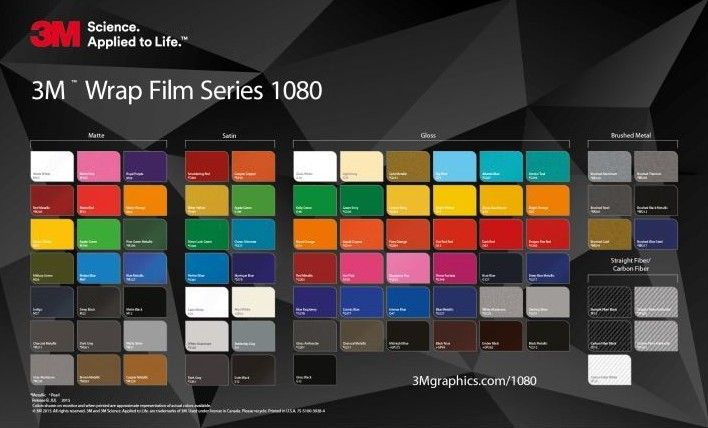 3m 2080: Gloss Black Metallic