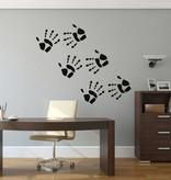 Handabdruck Sticker