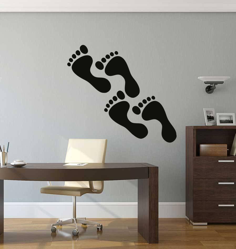 Fußspuren Sticker