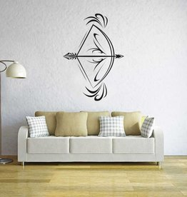 Wand-Aufkleber mit Pfeil und Bogen