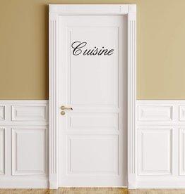 Französischer  Text: ''Buffet de Cuisine''