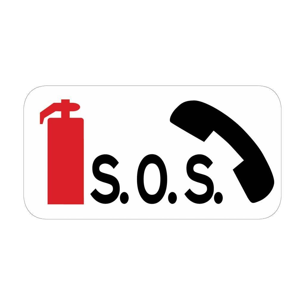 Feuerlöscher mit SOS-Fernsprecher