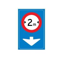 Verkeersbord geldt voor de aangegeven rijstrook