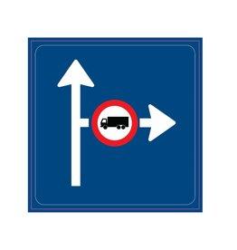 Vooraanduiding verkeersmaatregel aangegeven richting