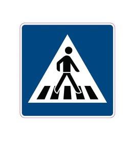 Voetgangers oversteekplaats Sticker