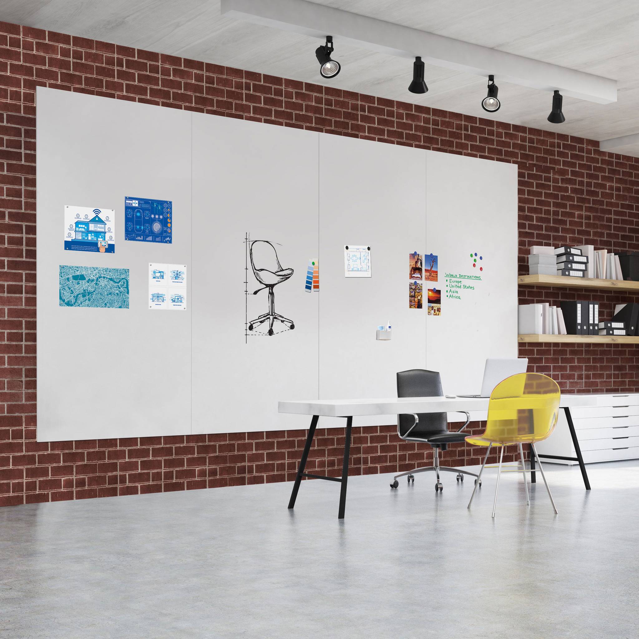 Legamaster Wall-Up Whiteboard Paneel