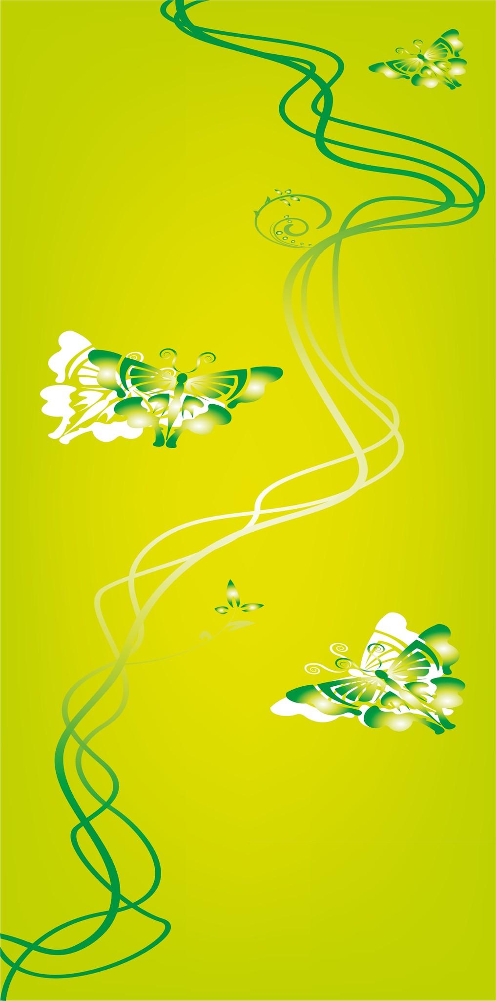 Vlinders Deur sticker