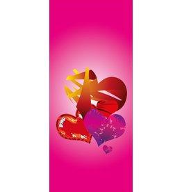Hearts Door sticker