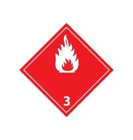 Brandbare vloeistoffen 3 Sticker