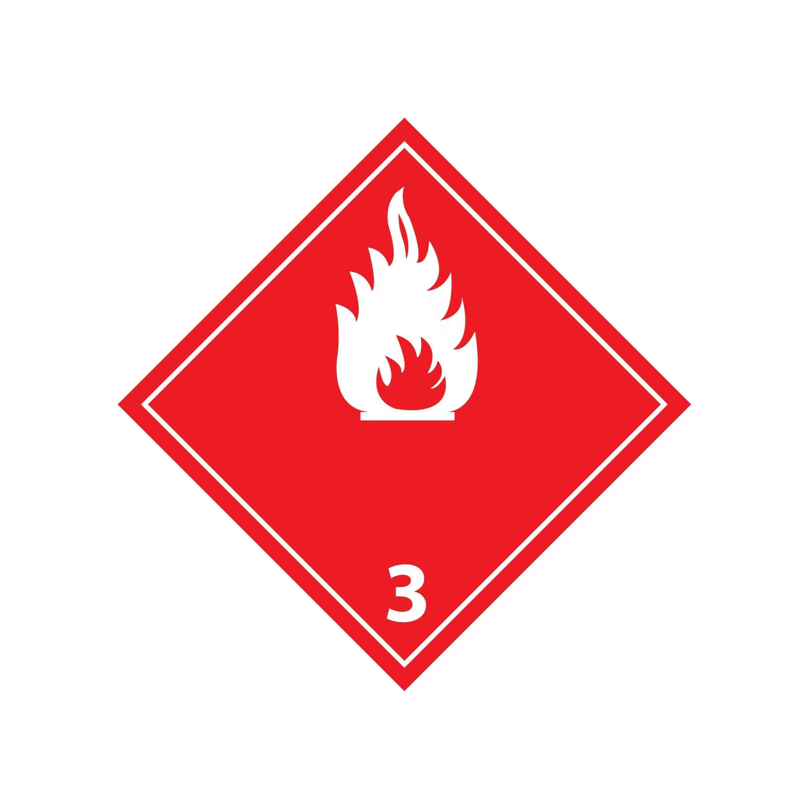Brennbare Flüssigkeiten 3 Sticker