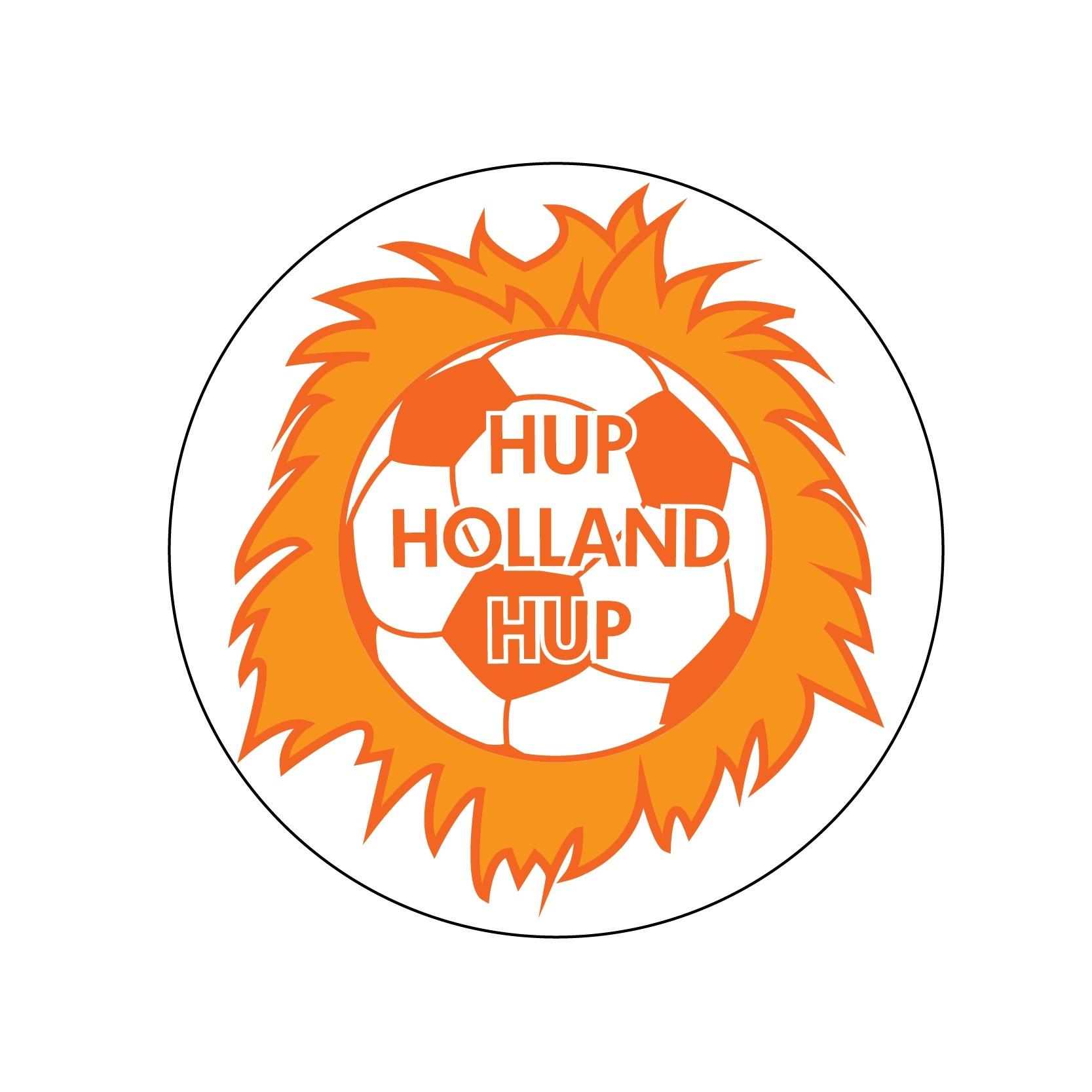 Oranje sticker 4