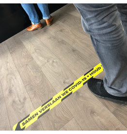 Floor line sticker keep distance 1.5 Meter